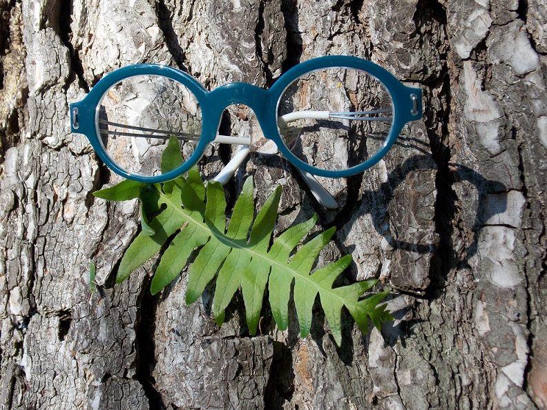 Création originale lunette bleue 2 Optique Pacheco - Optique Pacheco