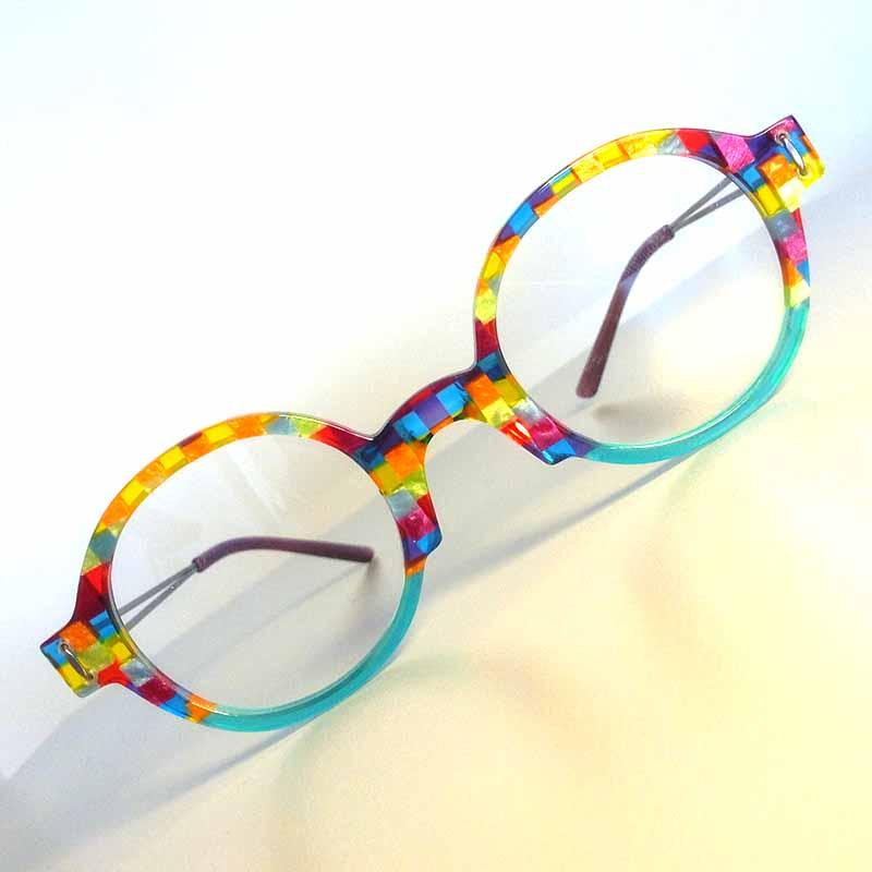 Création originale lunette multicolore 2 Optique Pacheco - Optique Pacheco