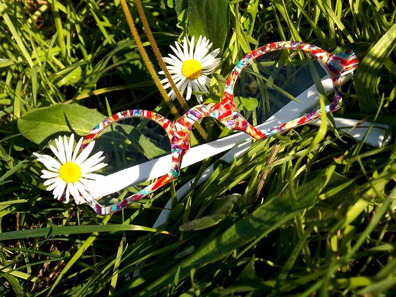 Création originale lunette multicolore Optique Pacheco - Optique Pacheco