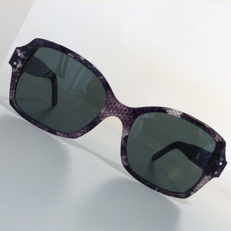 Création originale lunette soleil violette Optique Pacheco - Optique Pacheco
