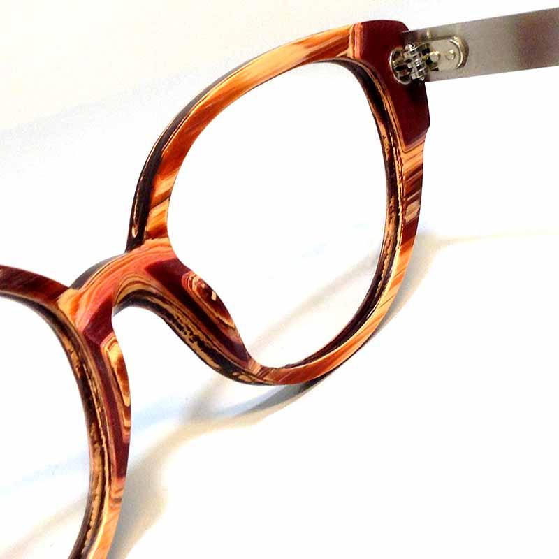 Création originale lunette teintes marrons 2 Optique Pacheco - Optique Pacheco