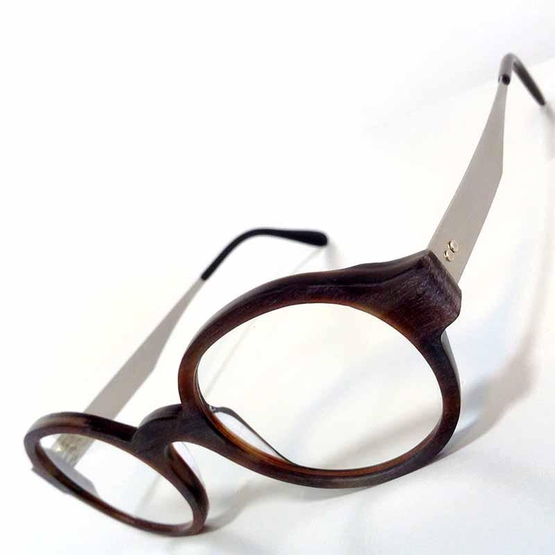 Créations originales lunette teintes marrons Optique Pacheco - Optique Pacheco